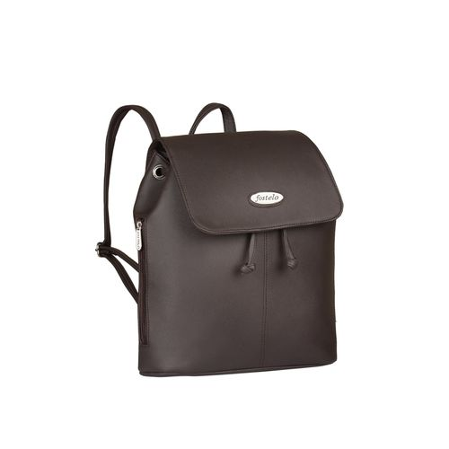FOSTELO brown leatherette fashion backpack