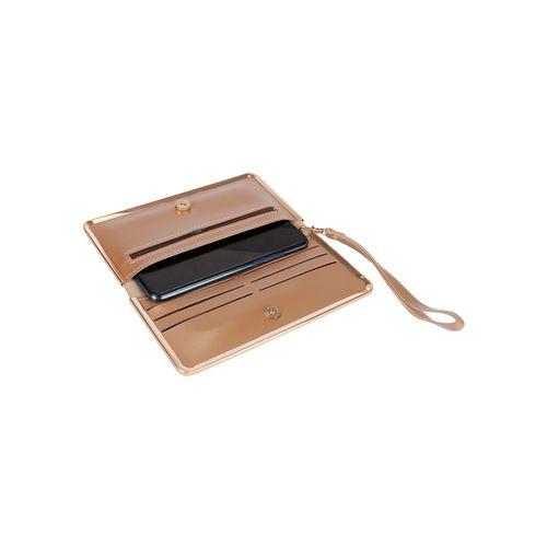 NIMMO gold leatherette (pu) fold over clutch