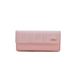 Bellissa pink leatherette (pu) wallet
