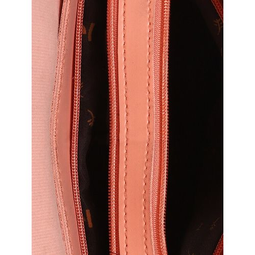 Vunik pink leatherette (pu) regular sling bag