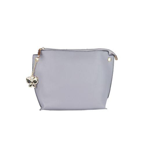 Butterflies blue leatherette (pu) regular sling bag