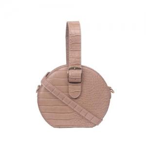 Bagkok brown leatherette (pu) regular sling bag