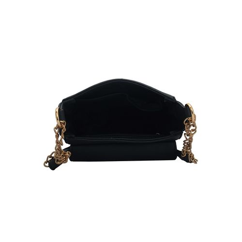 Lapis O Lupo black leatherette regular sling bag