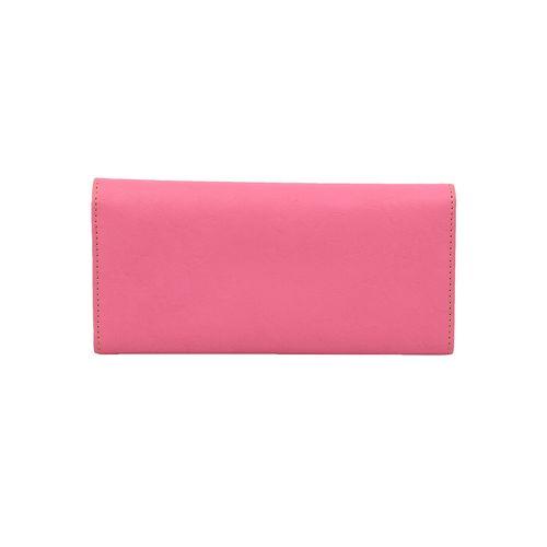 Bellissa pink leatherette (pu) regular clutch