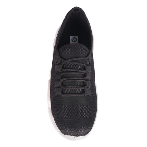 Avinash Handicrafts black mesh & synthetic lace up sneakers
