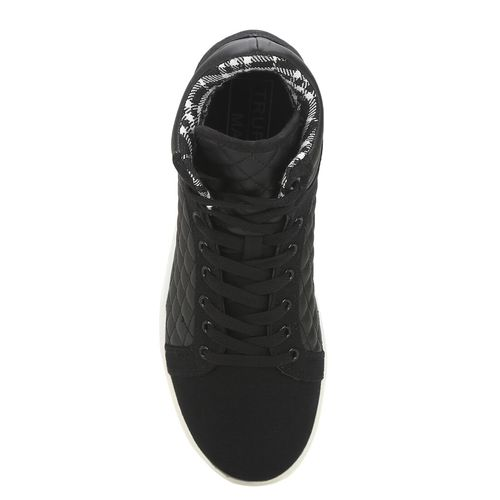 Truffle Collection black canvas lace up sneakers
