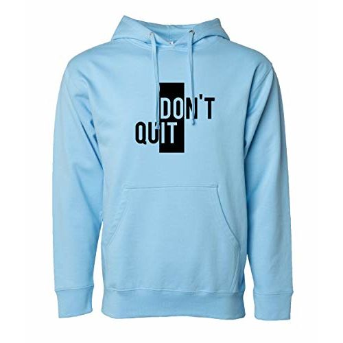 More & More Unisex Regular Fit Dont Quit Printed Cotton Hoodie