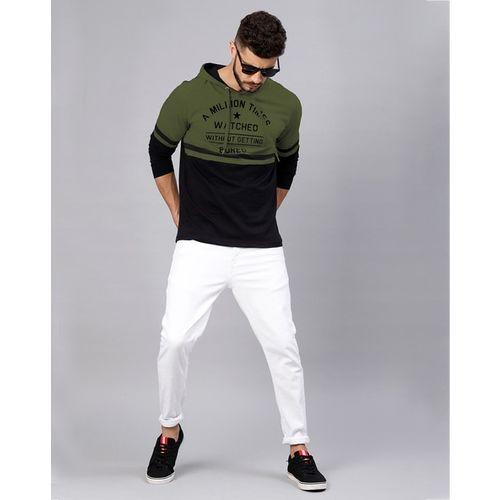 MANIAC Typographic Print Hooded Sweatshirt
