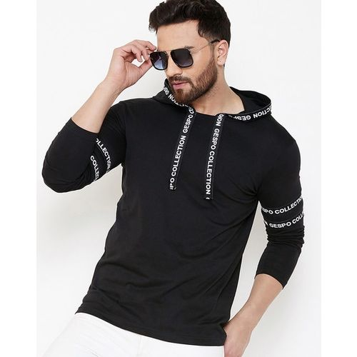 GESPO Hooded Sweatshirt with Typographic Taping