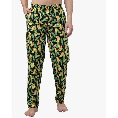 The Indian Garage Co Printed Pyjamas with Elasticated Waistband