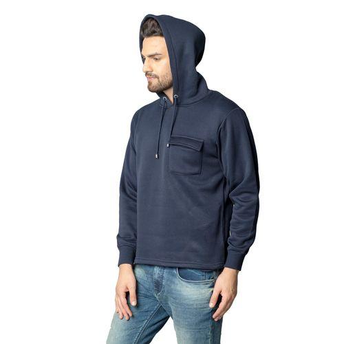 Black Studds Navy Hooded Sweatshirt