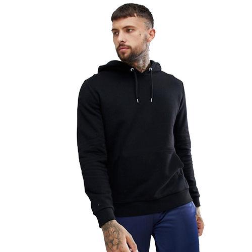 kristof black 100 cotton hooded sweatshirt
