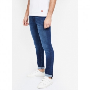 PEPE JEANS Blue Cotton Solid Skinny Fit Jeans