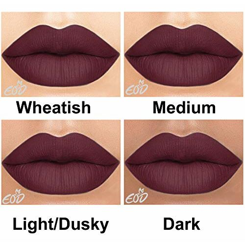 EOD Long Lasting Made in India Liquid Matte Lipsticks Combo Offer Set of 3 (Chocolate Brown, Purple skin , Blood Red)