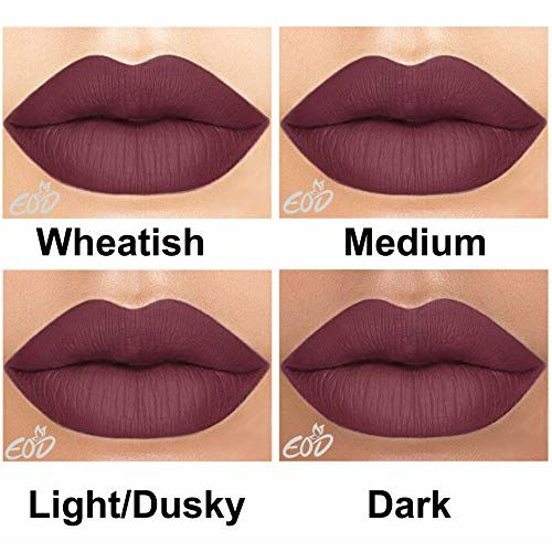 EOD Long Lasting Made in India Liquid Matte Lipsticks Combo Offer Set of 3 (Purple skin , Pinkish skin , Blood Red)