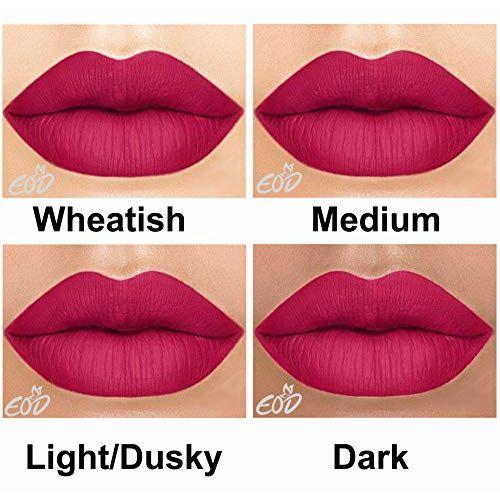 EOD Long Lasting Made in India Liquid Matte Lipsticks Combo Offer Set of 3 (Orangish Red, Purple, Dark Pink)