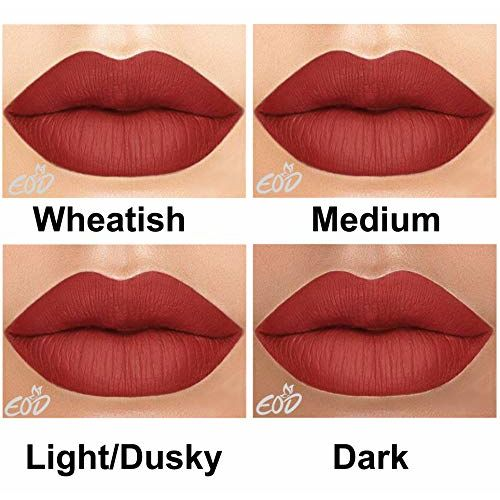EOD Long Lasting Made in India Liquid Matte Lipsticks Combo Offer Set of 3 (Peach, Purple, Pinkish skin )