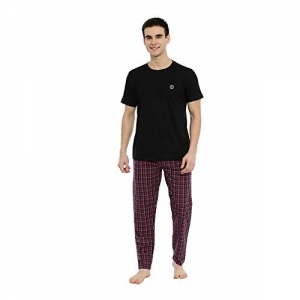 JOVEN Men's Multicolour T-Shirt & Pyjama Set