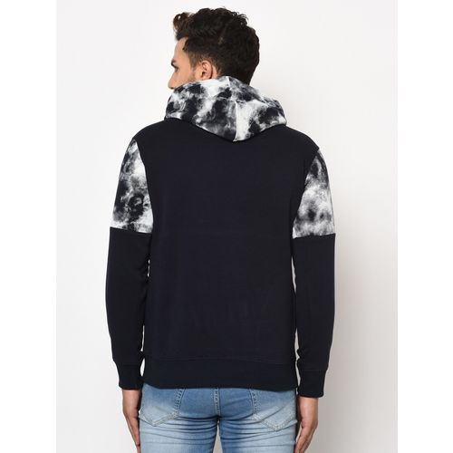 98 Degree North navy blue printed cut & sew sweatshirt