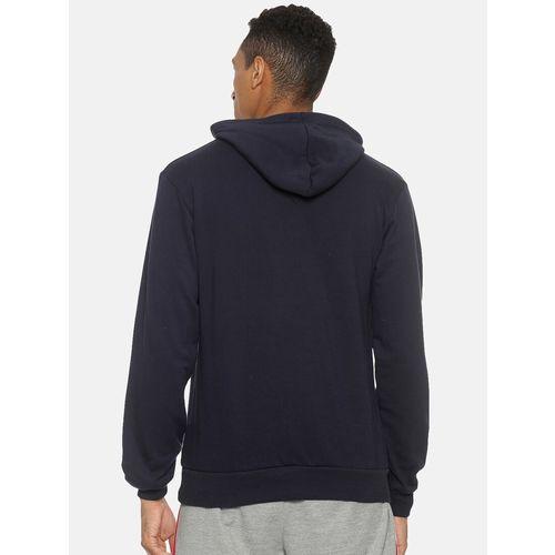 Campus Sutra navy blue solid sweatshirt