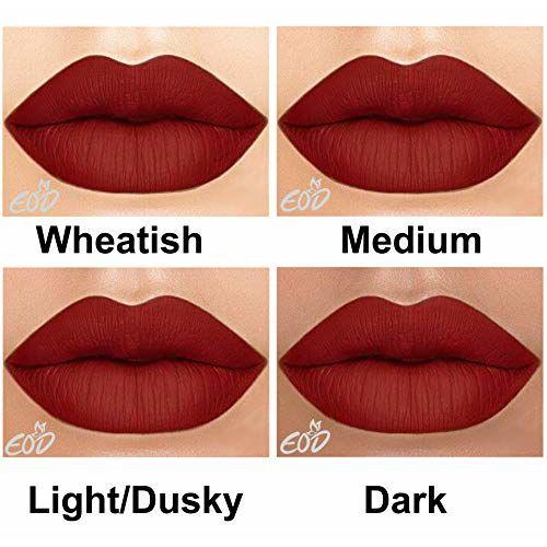 EOD Long Lasting Made in India Liquid Matte Lipsticks Combo Offer Set of 3 (Brick Red, Purple skin , Pinkish skin )