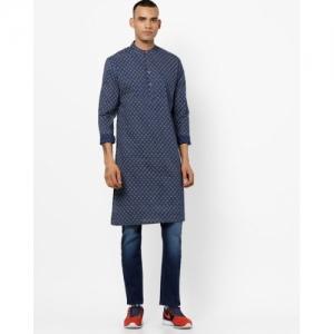 NETPLAY Blue Cotton Printed Regular Fit Kurta