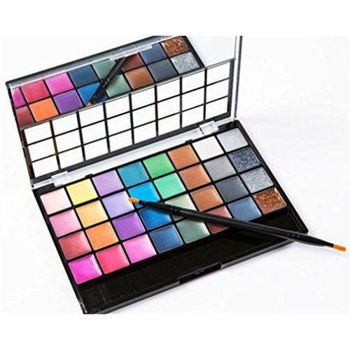 fashion shopee 32 Color professional Velvel Creamy Eyeshadow Palette 50 G (multicolor) 60 g(MULTICOLOR)
