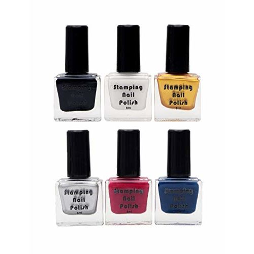 Store2508 Special Nail Polish For Nail Stamping (Pack of 6)
