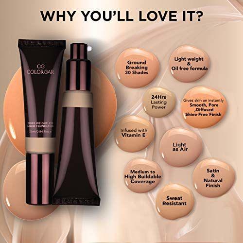 Colorbar Cosmetics 24Hrs Weightless Liquid Foundation, FC 4.1, 25 ml