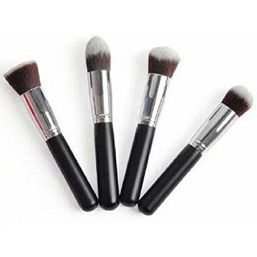 Preyansh Makeup 4 Piece Foundation Makeup Brush Set (Black)