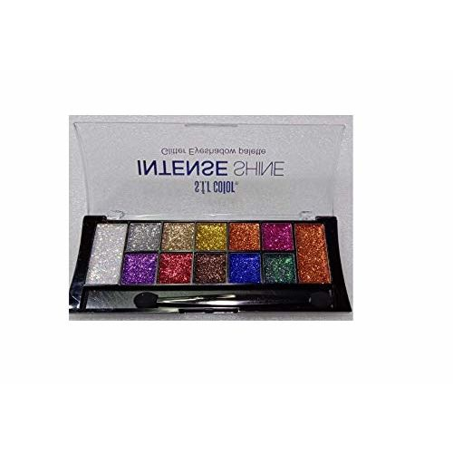 Glavon s.f.r 12 Color Eye Shadow Glitter Intense Shine with Sponge Puff (Combo Pack)