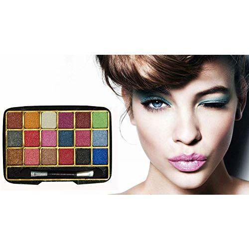 SWIPA All In One Professional Women's Makeup Kit(Pink Red Lipstick,18Color Eyeshadow,5Pcs Makeup Brush,2in1Compact Powder,Foundation(30ml) Kajal,Liquid