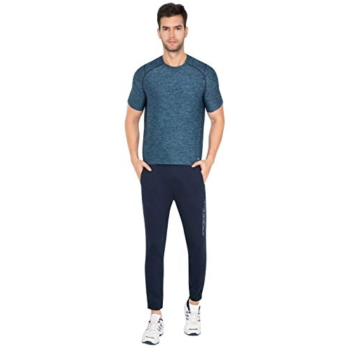 Jockey Blue Cotton Solid Relaxed Fit Joggers