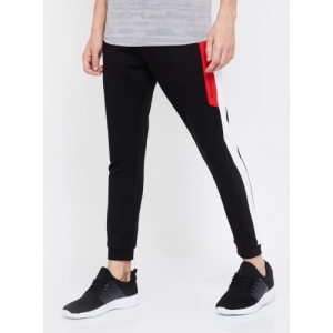 KAPPA Black Cotton Solid Slim Fit Joggers