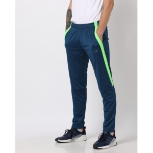 PERFORMAX Blue Polyester Solid Slim Fit Track Pant