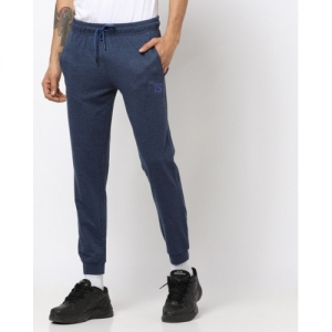 Teamspirit Blue Cotton Solid Slim Fit Joggers