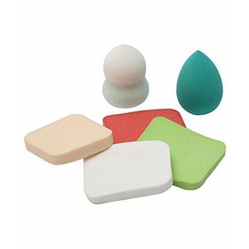 Generic Akki Trader Sponge Make Up Beauty Blender Puff / Sponge, For Party Makeup, Sponge Puff (Colour May Vary) - Set of 6