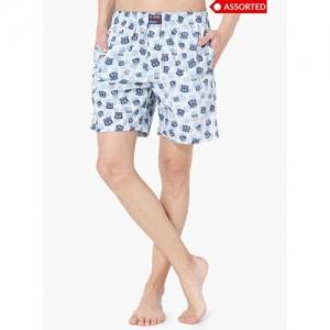 JOCKEY Multicolour Cotton Printed Woven Shorts