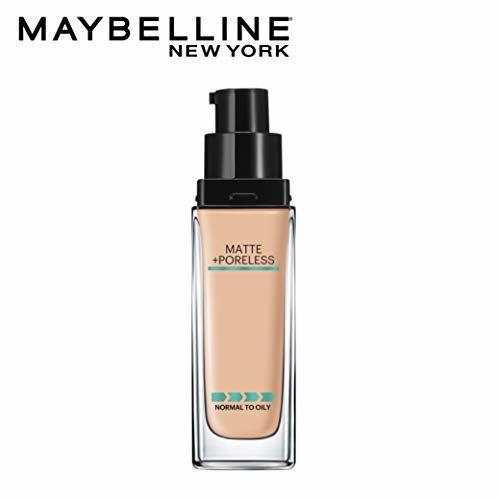 Maybelline New York Fit Me Matte+Poreless Liquid Foundation (With Pump), 128 Warm skin , 30ml