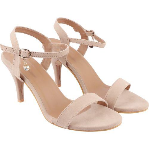 Shoetopia Women Beige Heels