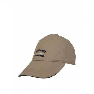 Woodland Beige Cotton Solid Baseball Cap