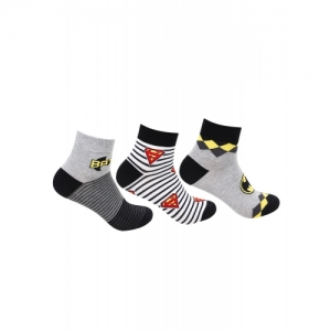Bonjour Multicolour Cotton Printed Ankle Length Socks