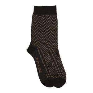 Park Avenue Brown Cotton Striped Socks