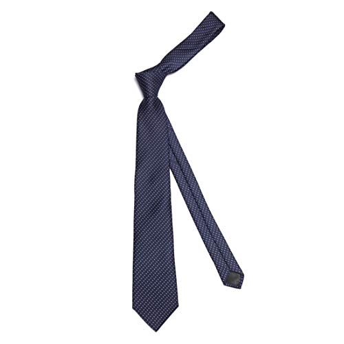 AXLON Blue Polyester Silk Polka Print Formal Tie (Set of 5)