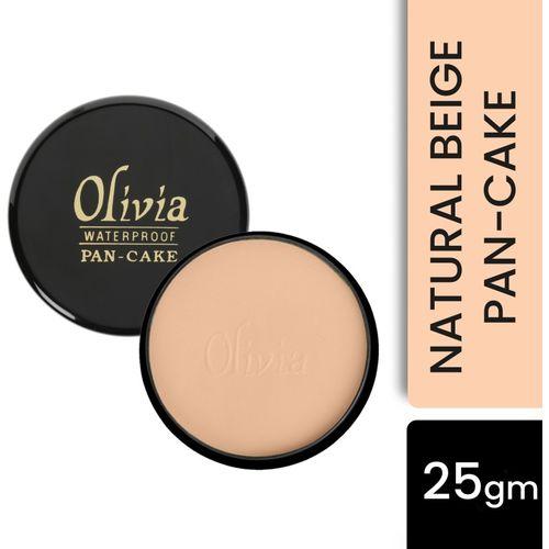 Olivia 100% Waterproof Pan Cake Concealer 25g Shade No. 25 Concealer(Natural Beige, 25 g)