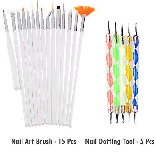 Store2508 Super Value Combo Kit of Nail Art Tools 3d Nail Art, Nail Stamping Image Plates, Silicone Stamper, Nail Art Brush set, Nail Dotting Tool Set.