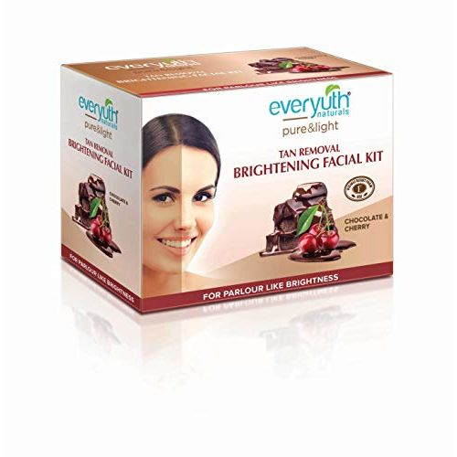 Everyuth Naturals Pure & Light Tan Removal Brightening Choco Cherry Facial Kit, 95gm, Box