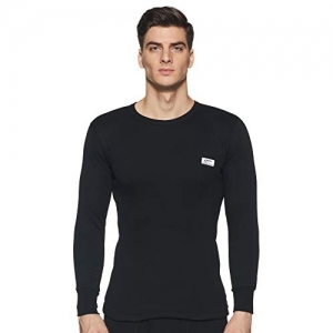 Rupa Thermocot Black Acrylic Solid Full Sleeve Thermal Top