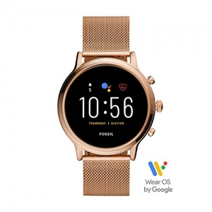 Fossil FTW6062 Rose Gold Stainless Steel Round Smartwatch