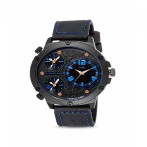 Giordano C1113-04 Black Genuine Leather Analog Watch
